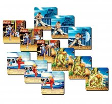 Street Fighter Lenticular podtácky 4-Pack Team