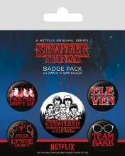 Stranger Things sada odznaků 5-Pack Characters