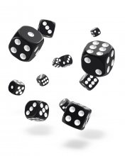 Oakie Doakie Kostky D6 Dice 12 mm Solid - Black (36)