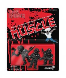 Iron Maiden MUSCLE Figures 3-Pack Wave 1 black 4 cm