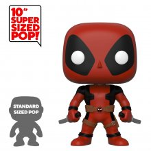Deadpool Super Sized POP! Vinylová Figurka Two Sword Red Deadpoo