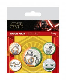 Star Wars Episode IX sada odznaků 5-Pack Droids