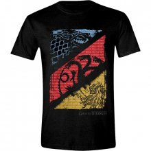 Game of Thrones triko Diagonal Sigils velikost XXL