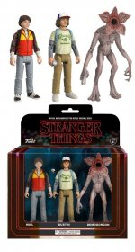 Stranger Things ReAction Akční Figurky 3-Pack Dustin, Will & De