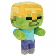 Minecraft Happy Explorer Plyšák Gold Helmet Zombie 18 cm