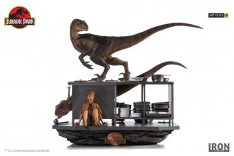 Jurassic Park Art Scale Diorama 1/10 Velociraptors in the Kitche