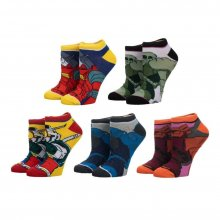 Gundam Ladies Ankle ponožky 5-Pack