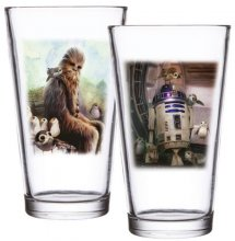 Star Wars Episode VIII Pint Glass 2-Pack Chewbacca & R2-D2