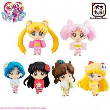 Sailor Moon Petit Chara Trading Figure 6-Pack Cherry Blossom Fes
