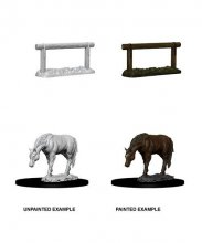 WizKids Deep Cuts Unpainted Miniature Horse & Hitch Case (6)