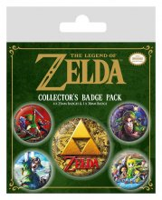 Legend of Zelda Pin Badges 5-Pack Classics