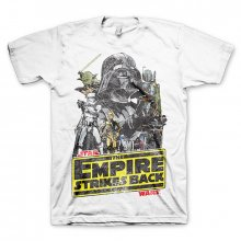 Star Wars t-shirt The Empires Strikes Back white size XL