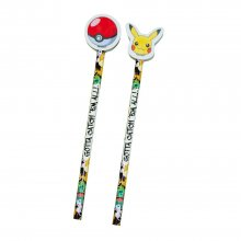 Pokemon Pencil with Topper 2-Pack
