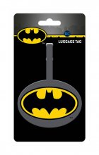 DC Comics Rubber Luggage Tag Batman Logo