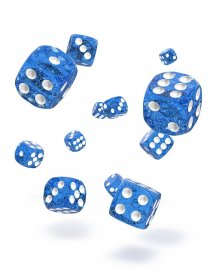 Oakie Doakie Kostky D6 Dice 12 mm Speckled - Blue (36)