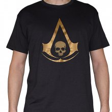 Černé tričko Assassins Creed IV Black Flag Crest Golg
