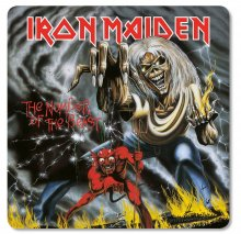 Iron Maiden podtácky Pack The Number of the Beast (6)