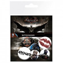 Placky Batman Arkham Knigh 6-pack