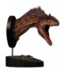 Paleontology World Museum Collection Series Bust Allosaurus Red