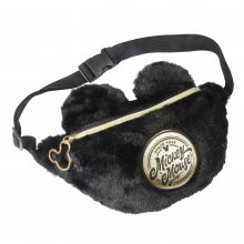 Disney Black Collection Plush Waist Bag Mickey