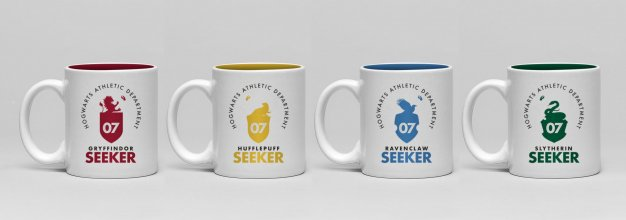 Harry Potter hrnky na espresso 4-Pack Crests