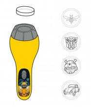 Transformers 6 Flashlight with Projector Bumblebee