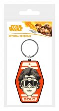 Star Wars Solo Rubber Keychain Solo Badge 6 cm