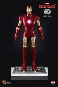 Iron Man 3 Life-Size Socha Iron Man Mark III DX Base 210 cm