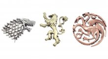 Game of Thrones Set of 3 Pins House Erby