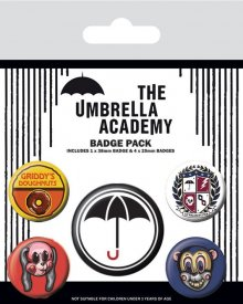 The Umbrella Academy sada odznaků 5-Pack Super