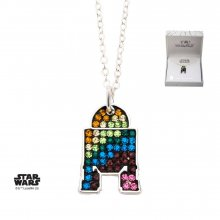 Star Wars Pendant & Necklace Rainbow R2-D2 (silver plated)