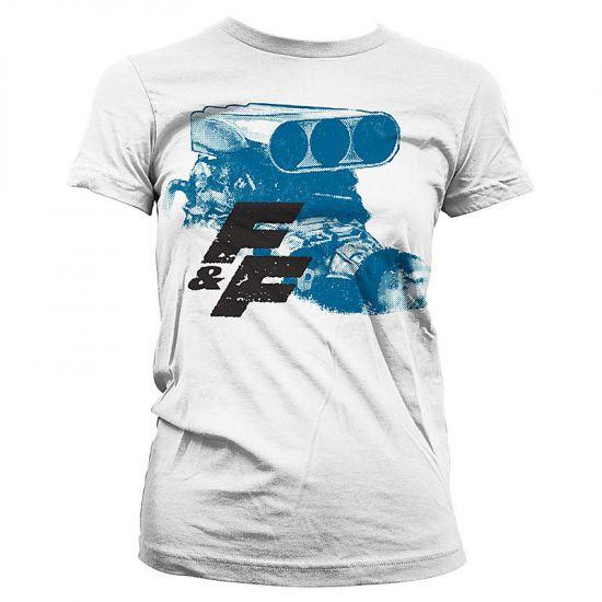 968fb628ffc Dámské tričko Fast   Furious Engine Bílé  UV-5-FF010-H69-13-WH ...