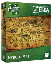 The Legend of Zelda skládací puzzle Hyrule Map (1000 pieces)