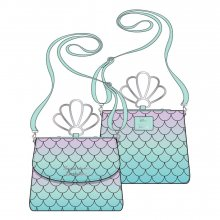 Disney by Loungefly Crossbody Little Mermaid Ombre Scales Shell