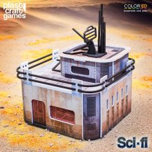 Sci-fi ColorED Miniature Gaming Model Kit 28 mm Port Comms Stati