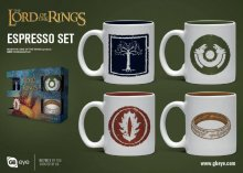 Lord of the Rings hrnky na espresso 4-Pack Symbols