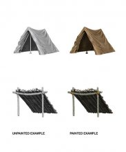 WizKids Deep Cuts Unpainted Miniature Tent & Lean-To Case (6)
