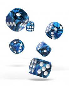 Oakie Doakie Kostky D6 Dice 16 mm Gemidice - Twilight Stone (12)