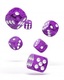 Oakie Doakie Kostky D6 Dice 16 mm Speckled - Purple (12)