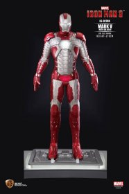 Iron Man 3 Life-Size Socha Iron Man Mark V DX Base 210 cm