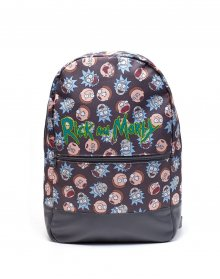 Rick & Morty Backpack Logo & Big Faces
