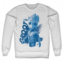 Guardians Of The Galaxy mikina I Am Groot bílá