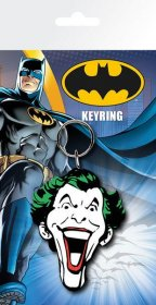 Batman Comic Rubber Keychain Joker Face 7 cm