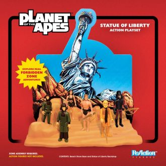 Planet of the Apes ReAction Playset Socha of Liberty SDCC 2018