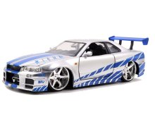 2 Fast 2 Furious Diecast Model 1/24 Brian's 1999 Nissan Skyline