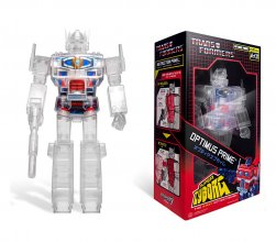 Transformers Akční figurka Super Cyborg Optimus Prime Clear 30 c
