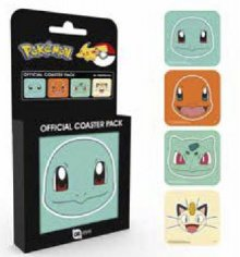 Pokemon podtácky 4-pack Faces