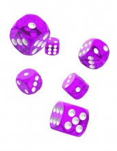 Oakie Doakie Kostky D6 Dice 16 mm Translucent - Purple (12)