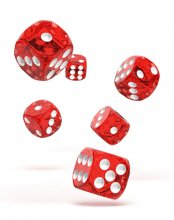 Oakie Doakie Kostky D6 Dice 16 mm Speckled - Red (12)