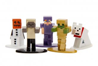 Minecraft Nano Metalfigs Diecast mini figurky 5-Pack Wave 1 4 cm